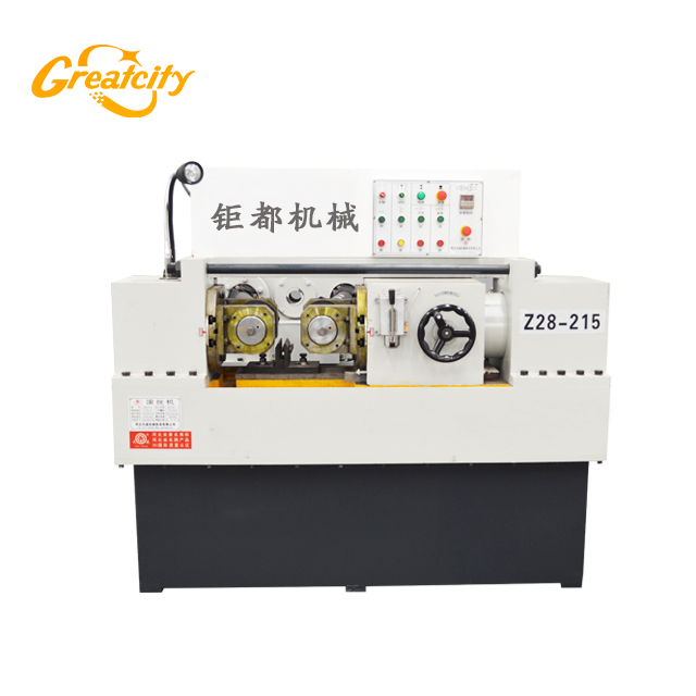 EU verified automatic hydraulic high precision two rollers steel bar thread rolling machine for stud welding