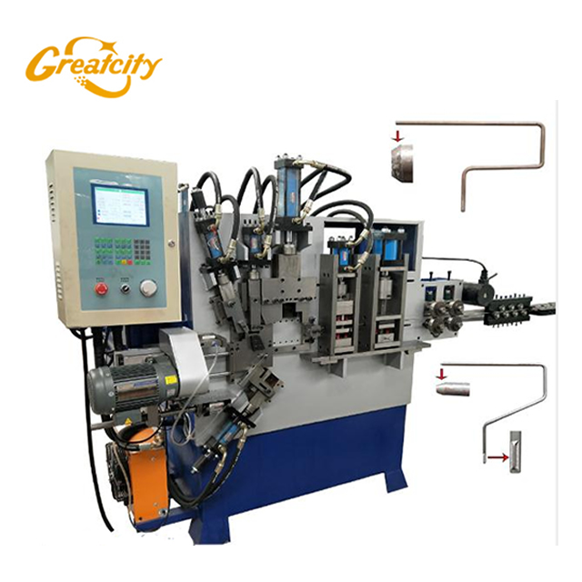 Chinese factory direct sale Fully automatic CNC controller Paint roller frame forming machine ,.paint roller production line