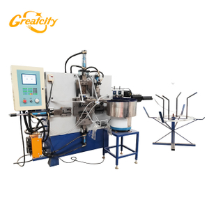Full automatic wire bucket handle with plastic grippe making machine price