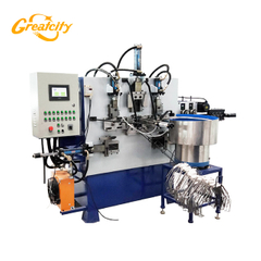 Price Of Automatic Metal Wire End Stamping Construction Bucket Handle Making Machine