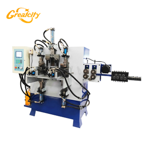 Factory Automatic CNC control high speed process hydraulic Bucket metal Handle hook Making Machine