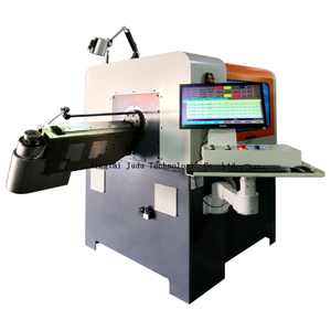 Hot selling Turn head 5 Axis Automatic 3D CNC Wire Bending Machine / Wire Metal Forming Machine with Cutting